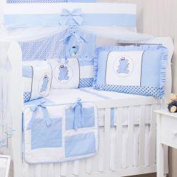 Kit Berço Urso Realeza Azul