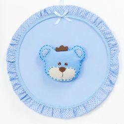 Porta Maternidade Urso Realeza Azul