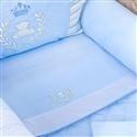 Jogo de Lençol para Berço Desmontável Realeza Azul 1,16m x 80cm