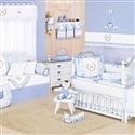 Quarto para Bebê sem Cama Babá Majestade Azul