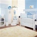 Quarto para Bebê sem Cama Babá Ponto Ajour Filó Azul