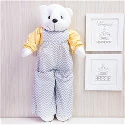 Porta Fraldas Urso Teddy Chevron Amarelo