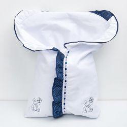 Porta Bebê Hipopótamo Azul Marinho