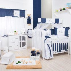 Quarto para Bebê sem Cama Babá Leãozinho Azul Marinho