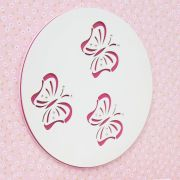 Quadro Butterfly Rosa