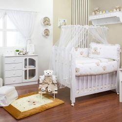 Quarto para Bebê sem Cama Babá Ursinho Dodô Cáqui