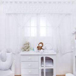 Cortina Luxo Branco 1,50m