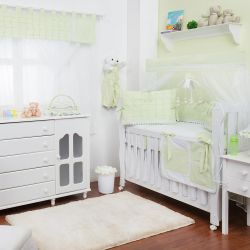 Quarto para Bebê sem Cama Babá Luxo Erva Doce