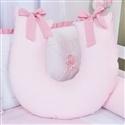 Almofada para Amamentação Piquet Rosa