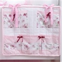 Porta Treco Floral Rosa