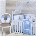 Quarto para Bebê sem Cama Babá Ursinho Azul