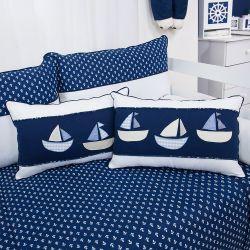 Almofadas Barquinhos Blue Boat 2 Peças