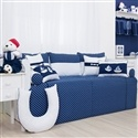 Kit Cama Babá Blue Boat
