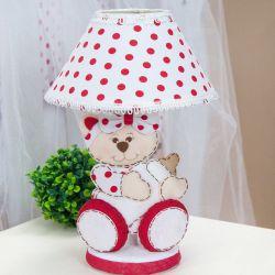 Abajur Ursa Baby Vermelha