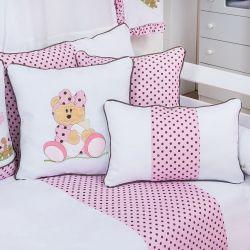 Almofadas Ursa Baby Rosa 3 Peças