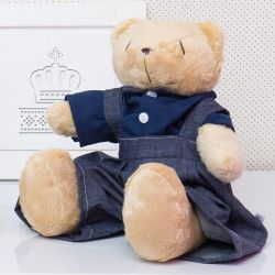 Urso Jardineiro Bege 34cm