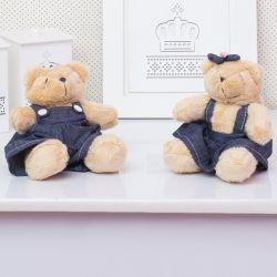 Irmãos Ursos Jardineiros Bege 13cm