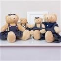 Família Ursos Jardineiros Bege