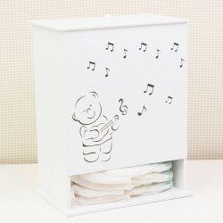 Porta Fraldas Urso Musical
