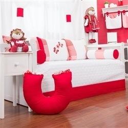 Kit Cama Babá Borboletas Vermelha