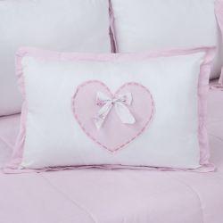 Almofada Decorativa Coração Sweet Bear Rosa 50cm