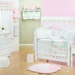 Quarto de Bebê sem Cama Babá Bouquet Rosa