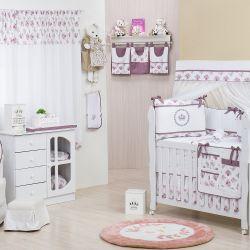 Quarto de Bebê sem Cama Babá Bouquet Uva