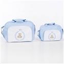 Conjunto de Bolsas Maternidade Teddy Azul