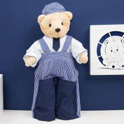 Urso Porta Fraldas Marinheiro Listrado