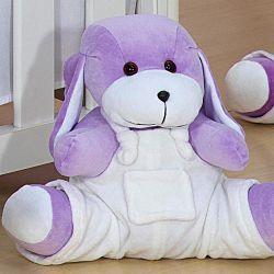 Cachorro com Macacão Branco Sapeca 33cm