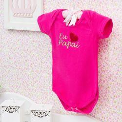 Body Manga Curta Eu Amo o Papai Pink