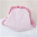 Capa de Bebê Conforto Flor de Lys Rosê