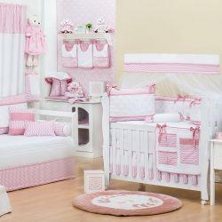 Quarto de Bebê Glamour Chevron Rosé