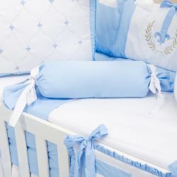 Almofada Apoio Bala Provençal Azul 62cm