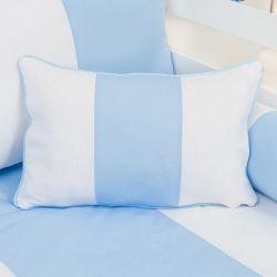 Almofada Retangular Provençal Azul 43cm