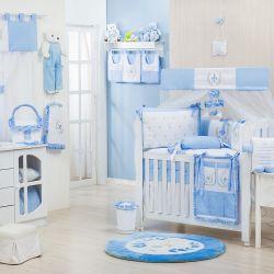 Quarto de Bebê sem Cama Babá Provençal Azul
