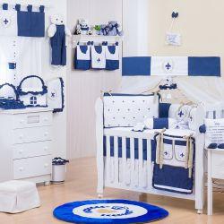 Quarto de Bebê sem Cama Babá Provençal Marinho