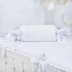 Almofada Apoio Bala Provençal Branco 62cm