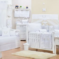 Quarto de Bebê Provençal Branco
