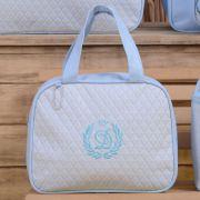 35660ac98 Conjunto de Bolsas Maternidade Valência Inicial do Nome Personalizada D  Azul Bebê