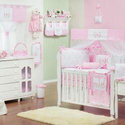 Quarto de Bebê sem Cama Babá Provençal Rosa
