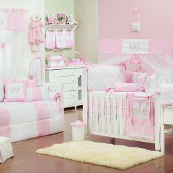 Quarto de Bebê Provençal Rosa