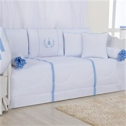 Kit Cama Babá Realeza Azul