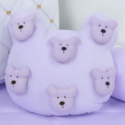 Almofada Urso Teddy Lilás
