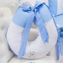 Almofada Amamentação Teddy Azul