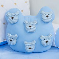 Almofada Urso Teddy Azul 40cm