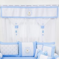Cortina Teddy Azul 1,50m
