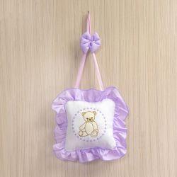 Porta Maternidade Teddy Lilás