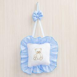 Porta Maternidade Teddy Azul