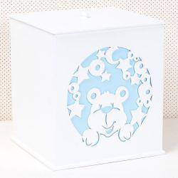 Lixeira Urso dos Sonhos Azul